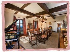 dining room at La Quinta. Diandra Douglas' house in Montecito, California via have some decorum