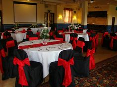 Marvelous Black And Red Chair Covers