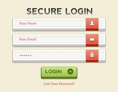 Login form PSD  Today's graphic download is an excellent login form in Photoshop PSD format. The 3D login form comes in fully layered PSD file so you can easily edit the form to fit your design need.