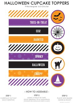 Halloween Cupcake Toppers - Life Made Simple