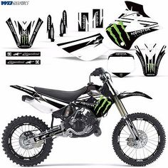 Graphic Kit Kawasaki Kx 85 100 Dirt Bike Mx Motocross Kx85 Kx100