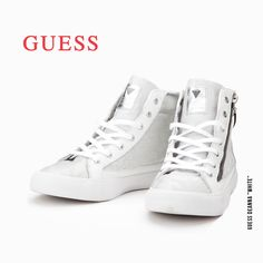 "#Trainers #Shoes #Guess Deanna ""White"""
