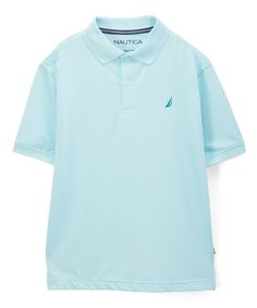 Light Turquoise Short-Sleeve Polo - Boys