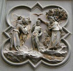 05 Battesimo di Gesù - Porta nord del Battistero di Firenze - Lorenzo Ghiberti - 1403-1424