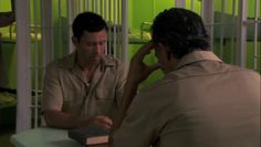 "Burn Notice 4x10 ""Hard Time"" - Michael Westen (Jeffrey Donovan) & Juan Ruiz (John Verea)"