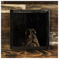 """Snuffles... the one who is always getting into trouble    Snuffles is one of 9stylized linear etchings of mans best friend....    Made-To-Order    Snufflesis madefrom oak that has each been sanded smooth and painted, the image is created by ripping away the pigment, leaving the beautiful texture of the wood undisturbed.    The frame is welded 1-1/4"""" steel angle, with a light grinding, for a very industrial feel.    As each piece of wood I use has it's own grain pattern, yours will be…"""
