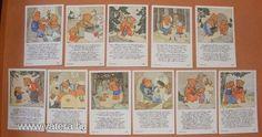 A Barna család - Ida Bohatta szorgalom kártyák, a 30-s évekből! Original Rare Print! Fleißbildchen