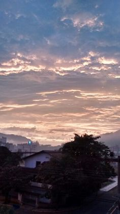 Nascer do sol em Jaragua do Sul SC Brasil