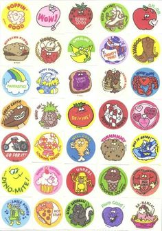 The joy of getting a scratch 'n' sniff sticker for answering a question right in class: