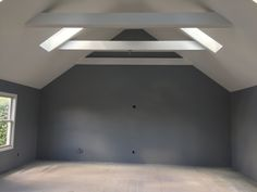 Bonus room with skylights and a vaulted ceiling.
