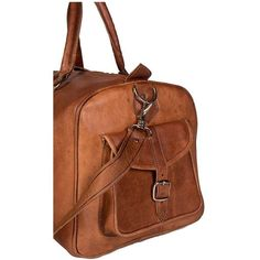 996286f5c1 Handmade Leather Duffle Bag (Morocco) (Dark Brown)
