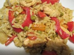 Fast curry rice chicken from the oven