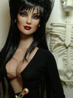 Elvira doll - polymer clay - artist unknown