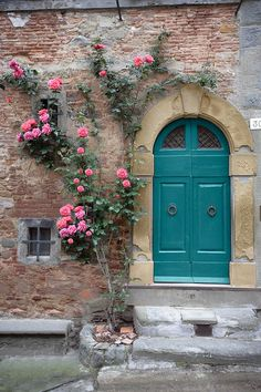 Italy Photograph - Tuscany Entrance Cortona by Al Hurley Porch Windows, Windows And Doors, Antique Door Knobs, Knobs And Knockers, Cool Doors, Garden Doors, Doorway, Backyard Landscaping, Curb Appeal