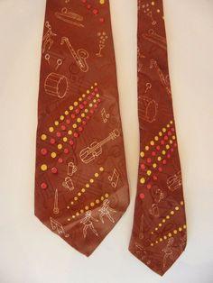 Arrow Necktie Vintage Musical Instruments Beer Mugs Cocktails Dancer Light Brown #Arrow #NeckTie #Everyday