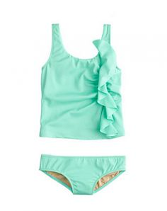 Appropriate 2-piece swimwear for little girls: This one from J Crew #swimsuits