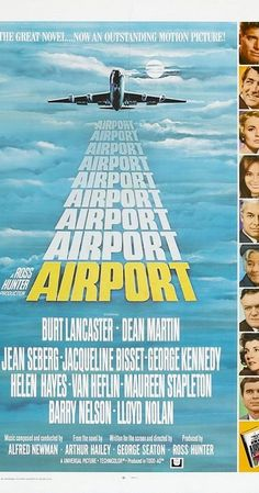 Directed by George Seaton, Henry Hathaway.  With Burt Lancaster, Dean Martin, George Kennedy, Jean Seberg. A bomber on board an airplane, an airport almost closed by snow, and various personal problems of the people involved.