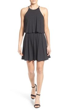 Lush Stripe Popover Skater Dress available at #Nordstrom