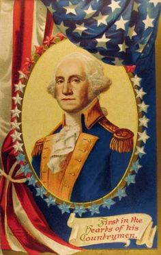*PATRIOTIC ~ Vintage George Washington Postcard