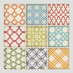 One of my favorite discoveries at WorldMarket.com: Geometric Tiles Wall Decals - Also at target.