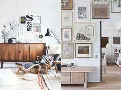 If you're still unsure about building your own art gallery wall, here are plenty more examples to help inspire you. Lots of you have been asking how I put the gallery wall together in my son's room. Home Living Room, Living Room Decor, Living Spaces, Above Couch, Decorating With Pictures, Inspiration Wall, Dream Decor, Wall Decor, Interior Design