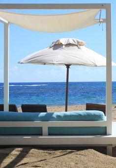 Special VIP beach loungers at Gran Ventana Resort, Puerto Plata, Dominican Republic.