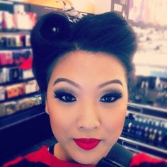 Makeup of the Day: Pin up by Oakridge. Browse our real-girl gallery #TheBeautyBoard on Sephora.com & upload your own look for the chance to be featured here! #Sephora #MOTD
