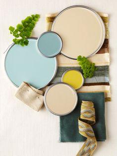 aqua and yellow #palette #paint #color