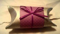 DIY gift box using TP roll, spray paint, glue,