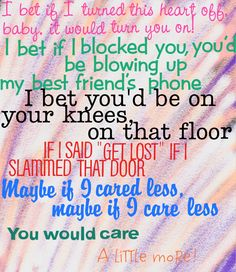 Careless - RaeLynn Country Song Lyrics, Country Songs, Music Lyrics, Lyrics To Live By, Quotes To Live By, Song Quotes, Qoutes, Lyrics For Selfies, Get Over Breakups