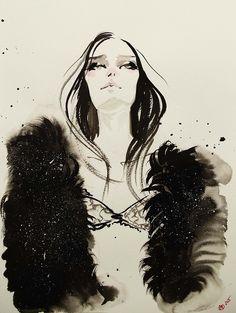 fashion illustration by Marta Skowronek