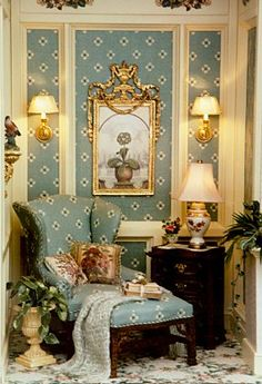 "Brooke Tucker Put-About. Lovely little room. Looks like a reading nook to me or a prayer ""closet"""