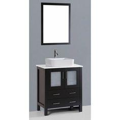 Bosconi 30 in. Single Bathroom Vanity Set - AB130RO