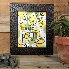 Beautiful Print Lemons Quote Hand Lettered Hand Drawn