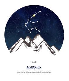 Aquarius Horoscope for January 2019 Aquarius ~ progressive, original, independent, humanitarian Aquarius Constellation Tattoo, Aquarius Tattoo, Aquarius Sign, Astrology Aquarius, Aquarius Quotes, Age Of Aquarius, Astrology Signs, Sagittarius, Horoscope Tattoos