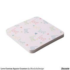 Love Custom Square Coasters Square Paper Coaster