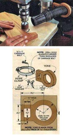 Drill Press Vacuum Hose Bracket - Dust Collection Tips, Jigs and Fixtures   WoodArchivist.com