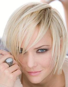 Short bob in blonde hair with the use of  low lights most especially on the top portion gives this hairstyle more texture, this hairstyle is very versatile; it looks perfect either in casual or formal events