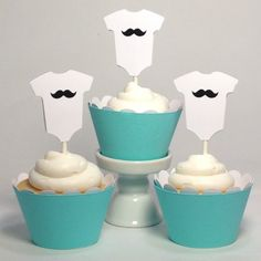Piece of Cake Parties Baby Shower Cupcake Toppers Classic Mustache Onesie Set of 12 Piece of Cake Parties http://www.amazon.com/dp/B00J7BJ95U/ref=cm_sw_r_pi_dp_uQ1Ytb0VWWR846Y3
