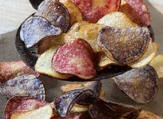 Chips de pommes de terre ( Vittelotte rouge, Bleue d'Artois et Ratte)