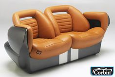 Corbin Dodge Viper loveseat Car Furniture, Automotive Furniture, Funky Furniture, Automotive Design, Furniture Making, Car Chair, Interior Architecture, Interior Design, Man Cave