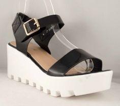 Sandale de vara crem Talpa 7 cm. Talpa Ortopedica. Culoare :Negru ( Black ) Comanda acum online! Transportul este gratuit pentru comenzi ce depasesc 199 Ron! Wedges, Shoes, Fashion, Sandals, Moda, Zapatos, Shoes Outlet, Fashion Styles, Shoe