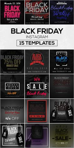 60 Instagram Templates Bundle #3 by RussGFX on @creativemarket