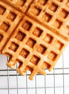 Gluten-free oat waffles recipe - cookieandkate.com - make with soymilk or coconut milk. no eggs -