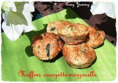 Mini-muffins courgette-mozzarella **