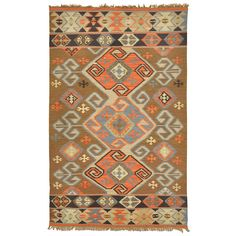 Lark Olive Green Tribal Pattern Indoor/ Outdoor Recycled Kilim (5' x 8') - Overstock™ Shopping - Great Deals on Kosas Collections Accent Rugs