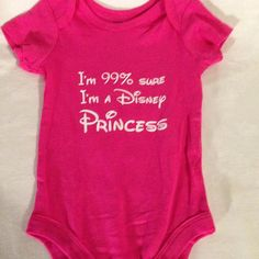 I'm 99% sure I'm a Disney Princess onesie by TheLittleSparkleShop