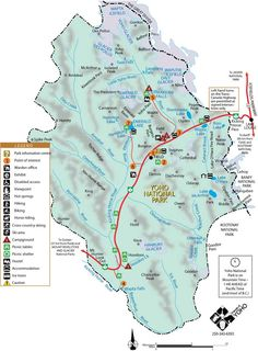 Yoho National Park Map Alberta MAPS info fun Pinterest Yoho