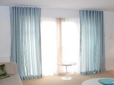 Light Blue Curtain Tracks