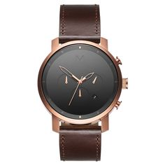 Chrono Rose Gold/Brown Leather – MVMT Watches